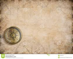 Old Map Background Old Nautical Map Background With Compass Stock Illustration