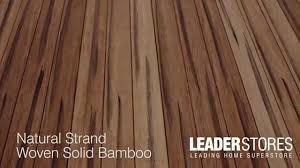 Solid Bamboo Flooring Wood Rustic Natural Strand Woven Solid Bamboo Flooring Youtube