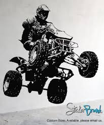 vinyl wall decal sticker quad bike jh242