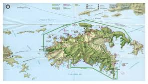 road map of st usvi large road map of st island with relief and other marks us