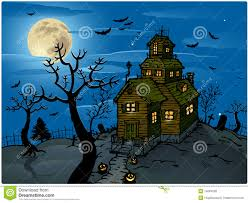 blue halloween background haunted house halloween background royalty free stock photos