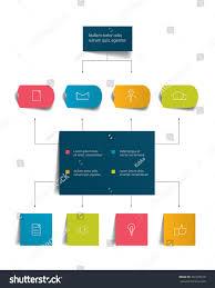 infographics flowchart colored shadows scheme stock vector infographics flowchart colored shadows scheme