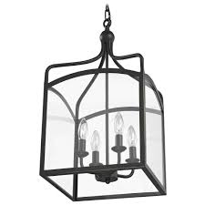 Indoor Lantern Pendant Light by Preston Large Square Lantern Pendant Entryway Light 874 78