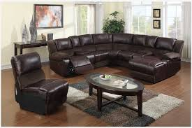 marvelous leather sectional sofa with recliner fantastic reclining