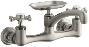 kohler k 149 3 bn antique wall mount kitchen sink faucet vibrant