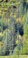 h potter large wrought iron ornamental metal scroll garden trellis