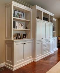Box Shelving Creating Purposeful Wall Art Built Ins White - Family room built in cabinets