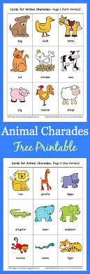 printable animal activities animal charades for kids free printable buggy and buddy