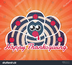 happy thanksgiving turkey thanks giving celebration stock vector