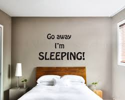go away i m sleeping wall decal bedroom wall decal quote zoom