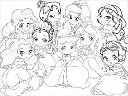 imagenes princesas bebes pintar coloring 5