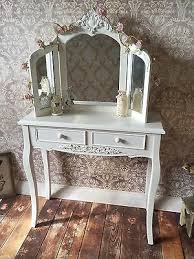 Shabby Chic Vanity Table by Shabby Chic White Dressing Table U0026 Mirror French Vintage Country