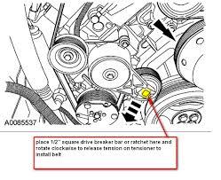 install alternator belt on 2006 ford f250 diesel