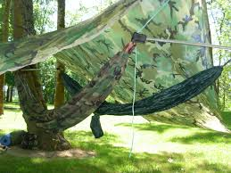 diy double hammock hang spacers using tent poles hiking poles