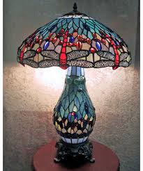 Tiffany Table Lamps Warehouse Of Tiffany Dragonfly Table Lamp With Lighted Base