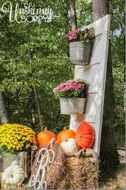 pumpkin door decoration fall porch decor with plants and pumpkins unskinny boppy