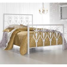 calypso iron bed in glossy white humble abode