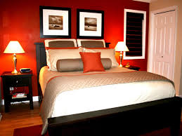 intense romantic bedroom ideas with red cream accent color and
