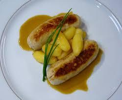 cuisine boudin blanc saucisson boudin blanc glaze s pommes d amour