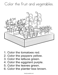count the fruit and vegetables coloring page twisty noodle