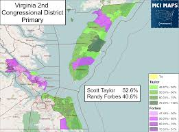 Map Of Virginia Beach Virginia U0027s 2nd District Primary U2014 When Carpetbagging Backfires