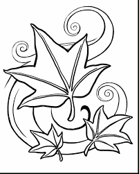 great fall leaves coloring pages for kids with fall printable