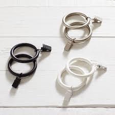 curtain rings images Classic steel curtain rings pbteen jpg