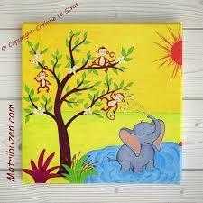 tableau pour chambre d enfant tableau pour chambre d enfant et bébé sur le thème de la savane