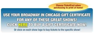 gift certificates broadway in chicago