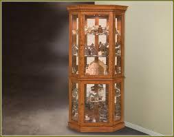 lighted curio cabinet oak attractive ideas design for lighted curio cabinet corner lighted