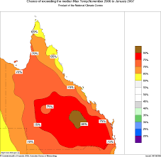 Map Of Queensland Early Summer Heat For Queensland