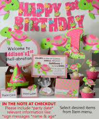 1st birthday themes for turtle birthday party decorations or baby shower girl pink