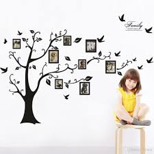 Owl Wall Sticker Black Family Tree Wall Decal Remove Wall Stick Photo Tree Wall
