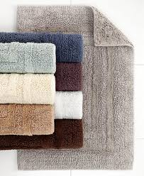 Thin Bathroom Rugs Hotel Collection Cotton Reversible Bath Rugs 100 Cotton Created