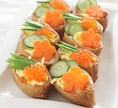 dining canapes recipes sushi canapés recipe centre