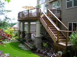 Split Level Front Porch Designs by Decks Com Deck Idea Pictures