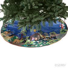 decor arpillera nativity tree skirt