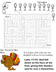 one thankful ten lepers maze jpg 1019 1319 sunday school