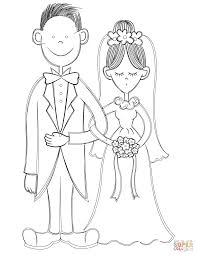 bride and groom coloring page free printable coloring pages