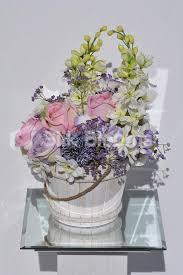 shop shabby chic roses delphinium u0026 allium floral arrangement
