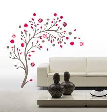 buy decals design beautiful magic tree with flowers wall sticker buy decals design beautiful magic tree with flowers wall sticker pvc vinyl online low prices india amazon