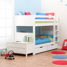 Twin Bunk Bed Designs by White Wooden Bunk Beds Cozy Bedroom Interior Design With Cool