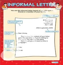 3 best images of an informal letter writing informal letter