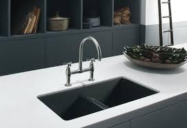 Install New Kitchen Faucet Granite Countertop Cabinet Doors Glass Panels Kohler Faucet