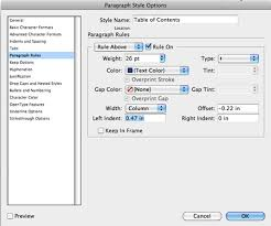 quick tip create a unique table of contents with adobe indesign