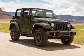 jeep sahara green jeep wrangler 75th anniversary review auto express