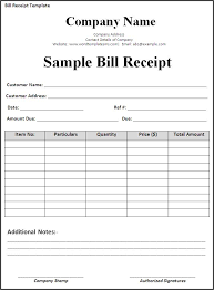 printable bill receipt bill receipt template daway dabrowa co
