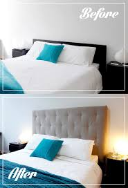 malm headboard hack before and after jpg 800 1 175 pixels bedroom ideas pinterest