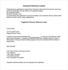 character reference letter samples template learnhowtoloseweight net
