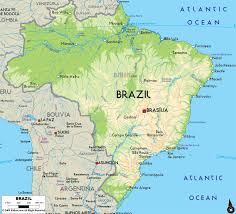 chile physical map large physical map of brazil with major cities brazil south